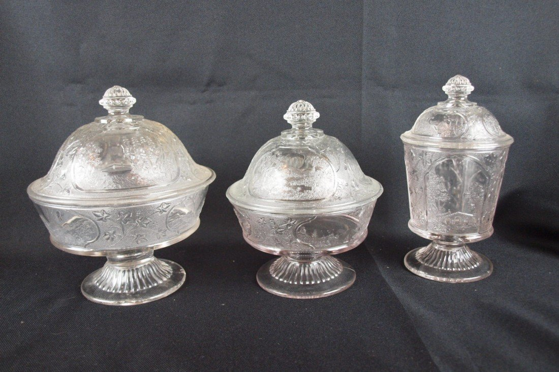 10: EAPG Canada pattern lot of 3 items - low covered co