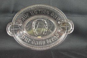 "EAPG ""Good Luck"" Bread Tray, 13"""