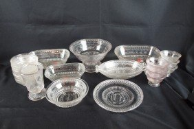 "EAPG ""Good Luck"" Lot Of 24 Pieces, Some With Damage"