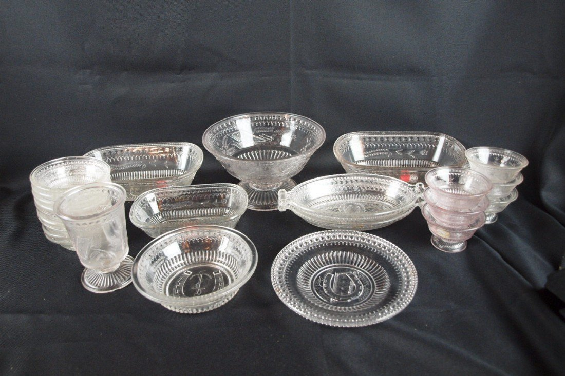 """40: EAPG """"Good Luck"""" lot of 24 pieces, some with damage"""