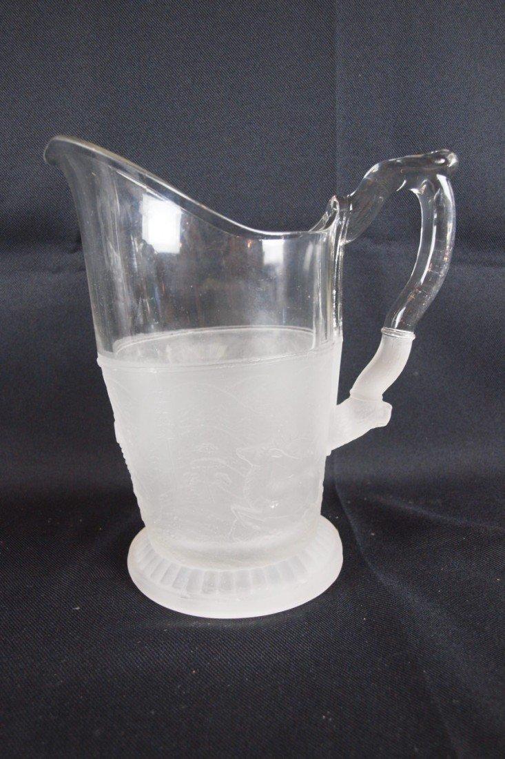 """41: EAPG """"Westward Ho"""" water pitcher, 9 1/2"""""""