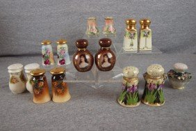 Lot Of 8 Pair Of China Salt And Pepper Shakers, Rep