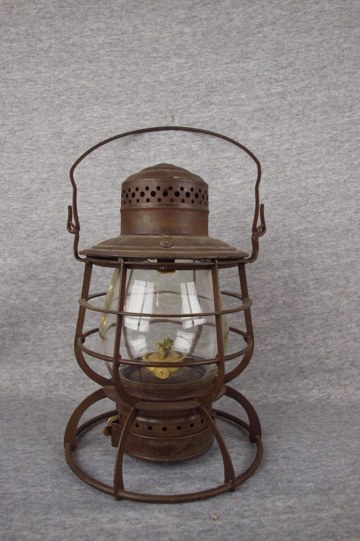"6: Armspear tall globe railroad lantern embossed ""C&ORY"