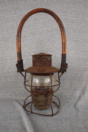 Adams & Westlake Railroad Lantern With Clear Short