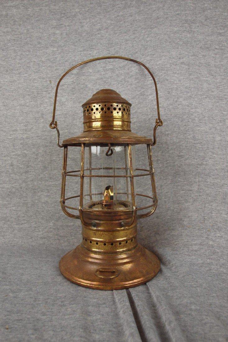 51: Brass marine lanter with clear globe