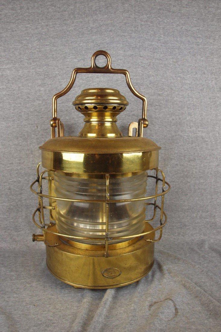 "55: Brass ""Perko"" marine lantern by Perkins Marine Lamp"