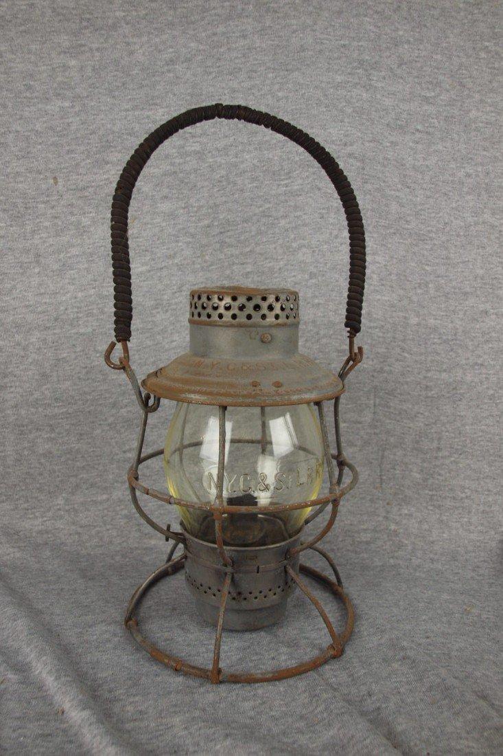 67: Adams & Westlake Adlake railroad lantern, both embo