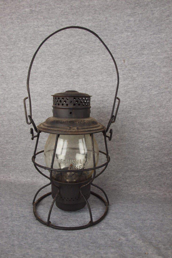 70: Adams & Westlake railroad lantern with tall clear g