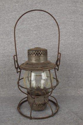 Adams & Westlake Railroad Lantern With Tall Clear