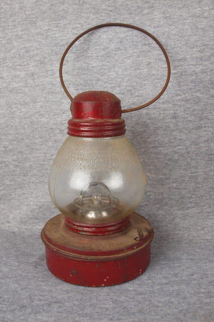 "129: Embury Mfg, Warsaw, NY battery operated lantern, """
