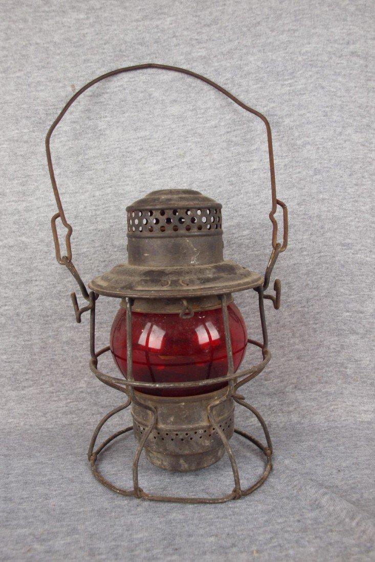 "132: Adams & Westlake railroad lantern embossed ""CVTCO"""