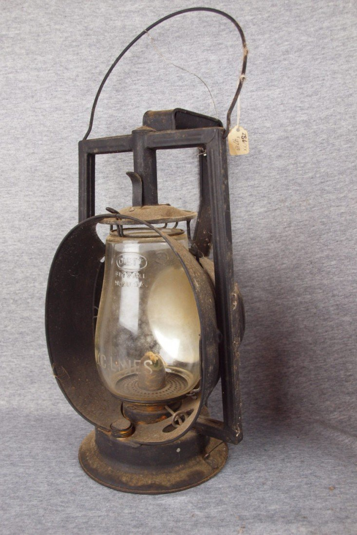 140: Dietz Acme Inspector Lamp with clear globe etched