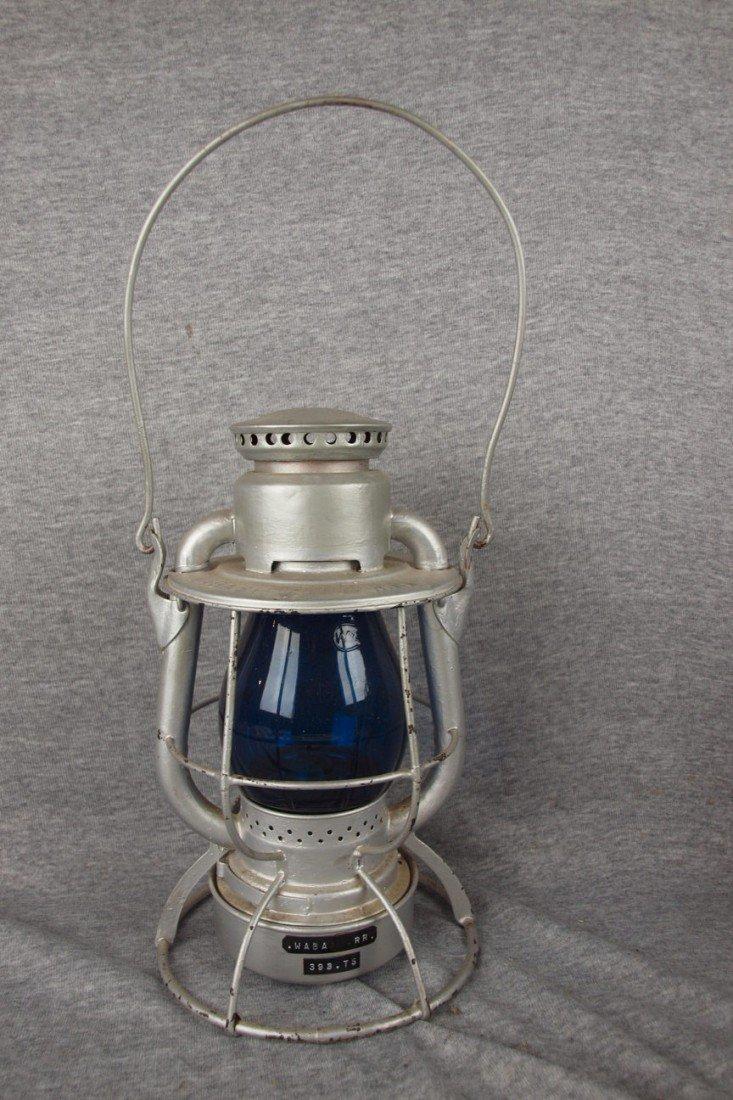 "143: Dietz Vesta railroad lantern embossed ""WABASH RR"""