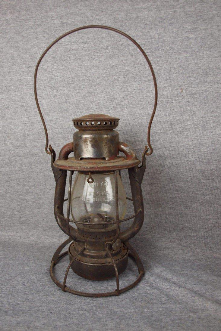 "145: Dietz Vesta railroad lantern embossed ""P&LERR"" (Pi"