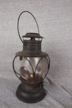 Baron Lantern With Clear Globe With Magnifier And