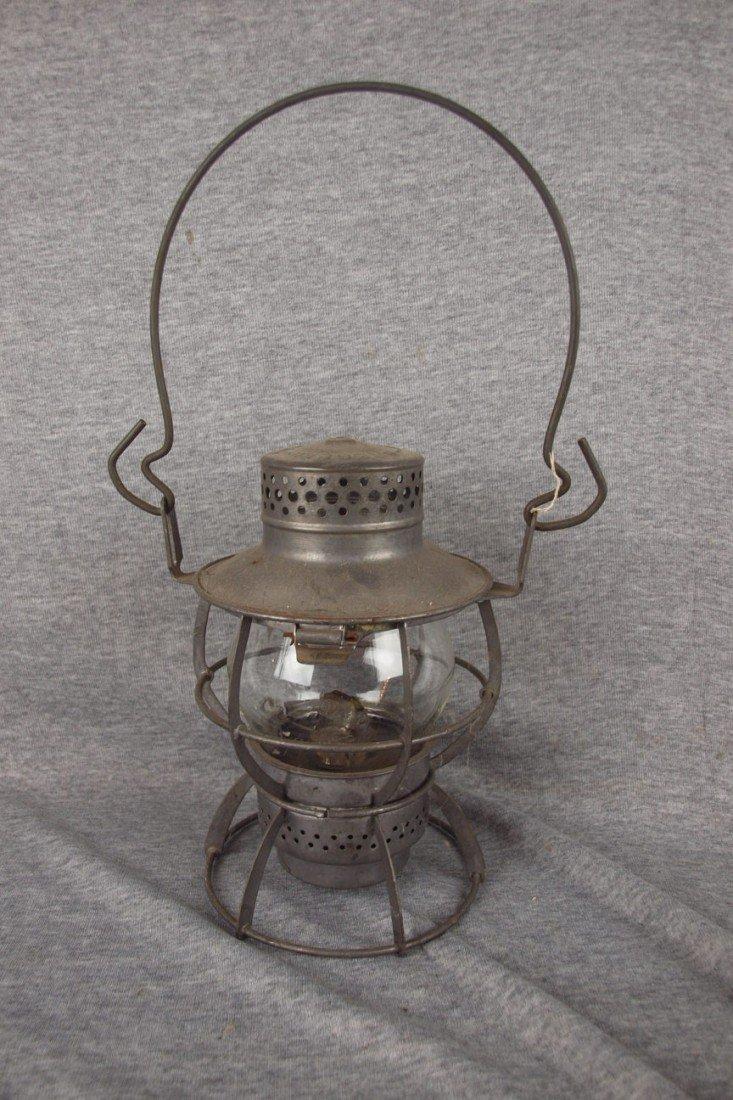 153: Dressel railroad lantern embossed with PRR logo, c