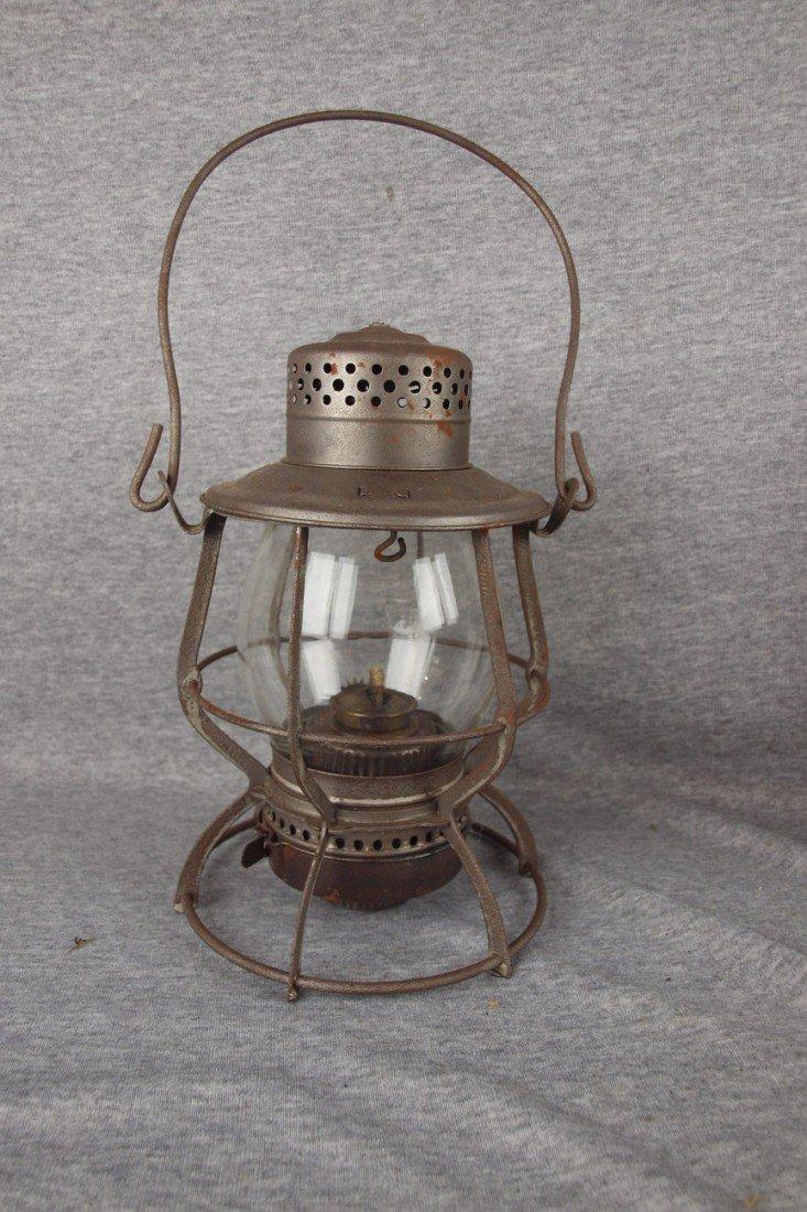 156: Keystone Lantern Co railroad lantern with clear gl