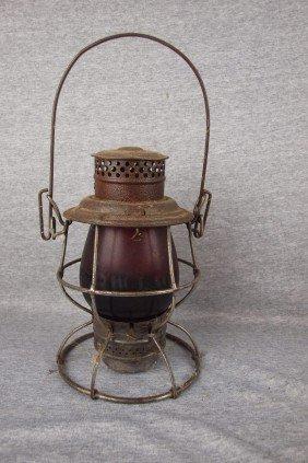 "Adams & Westlake Railroad Lantern Embossed ""C&L CO"