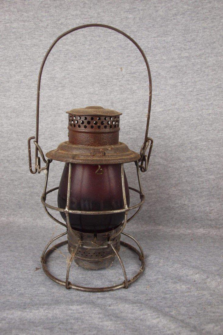 "157: Adams & Westlake railroad lantern embossed ""C&L CO"