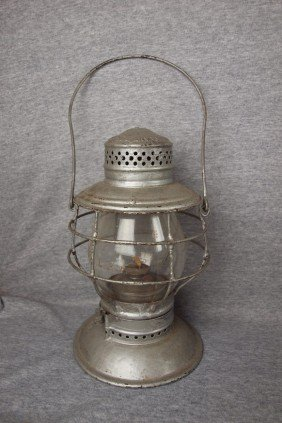 Handlan Railroad Lantern With Tall Clear Globe, Bo