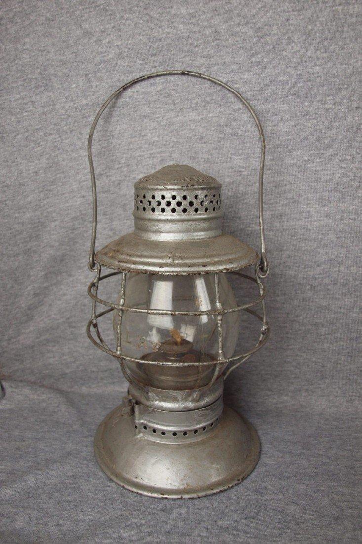 160: Handlan railroad lantern with tall clear globe, bo