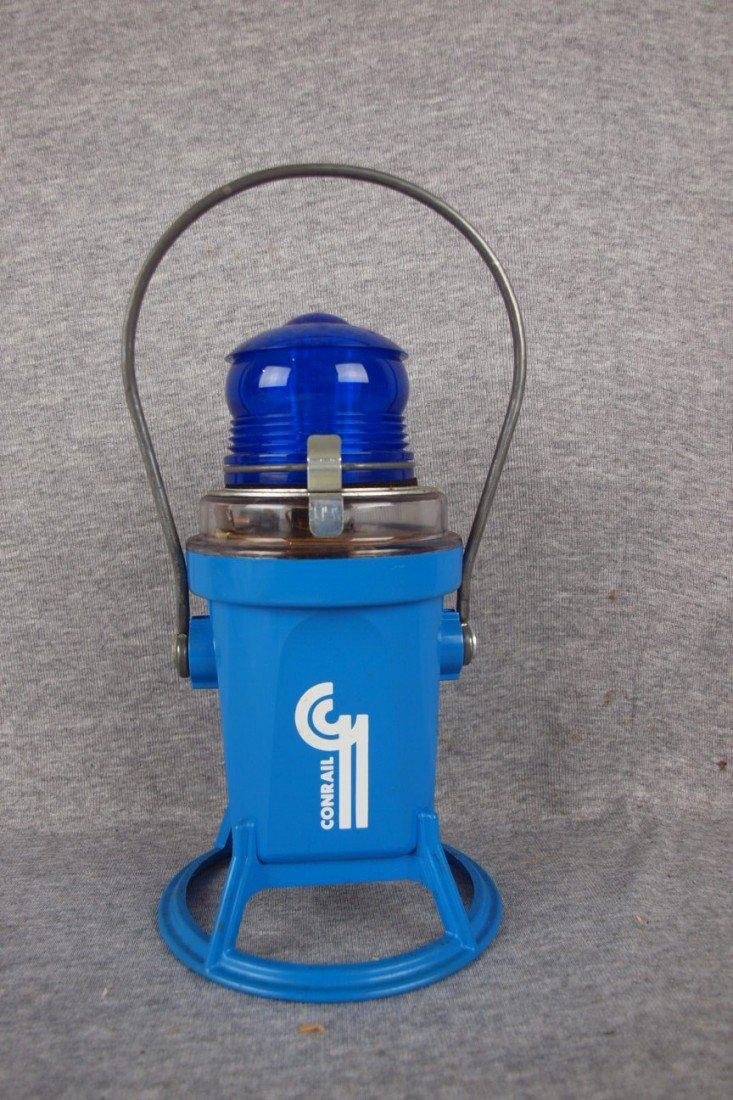 168: Starlight battery operted lantern with blue lens,