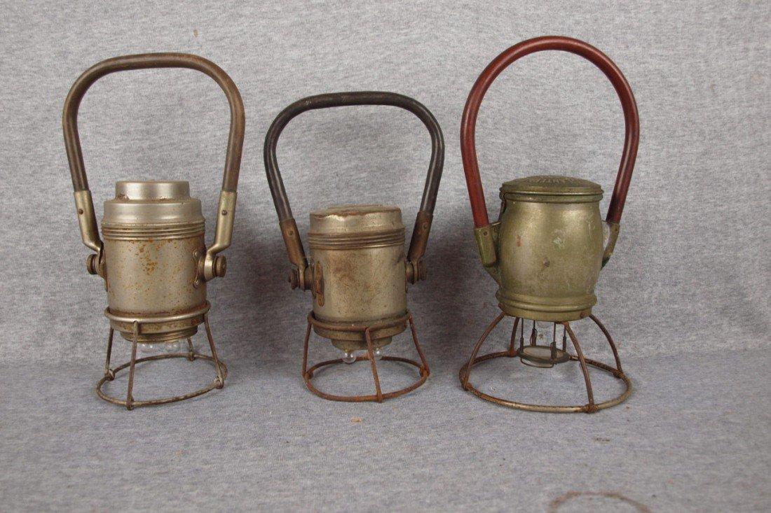 169: Lot of 3 Genesy Electric Lantern Co railroad lante