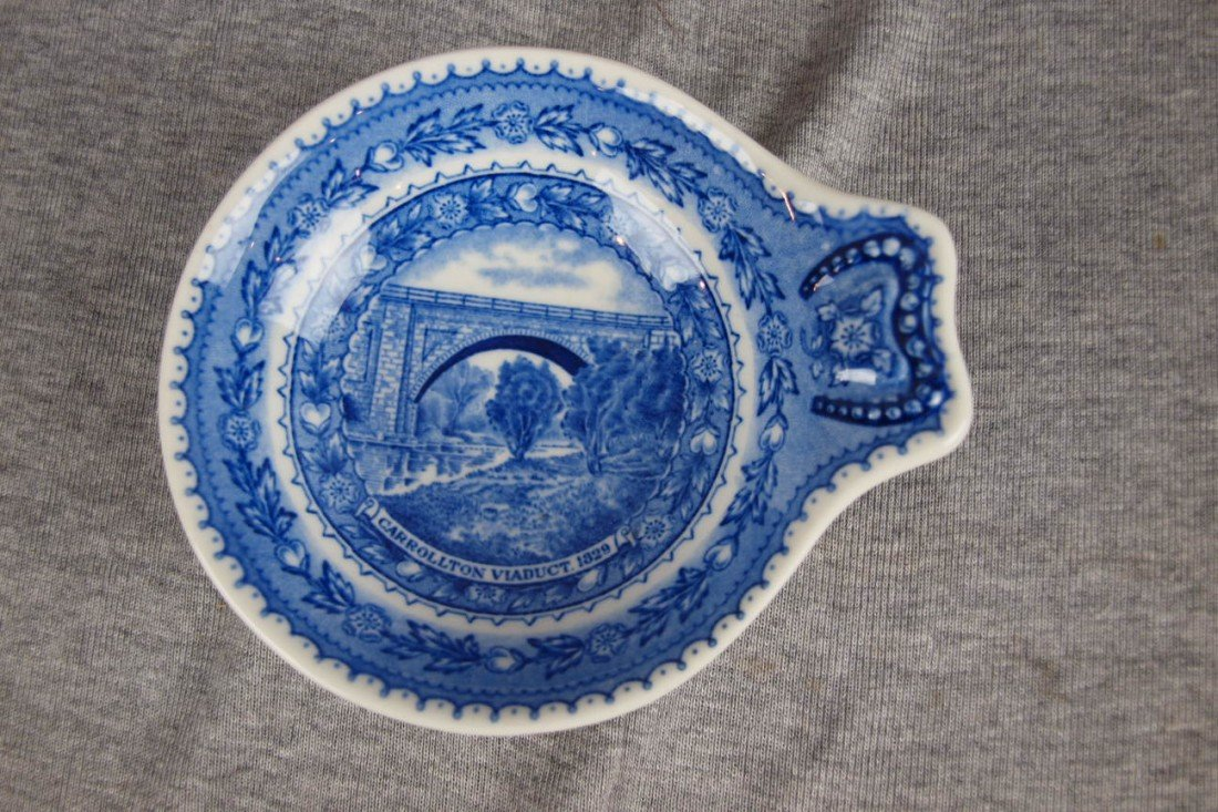 524: B&ORR railroad china ice cream dish, Lamberton Chi