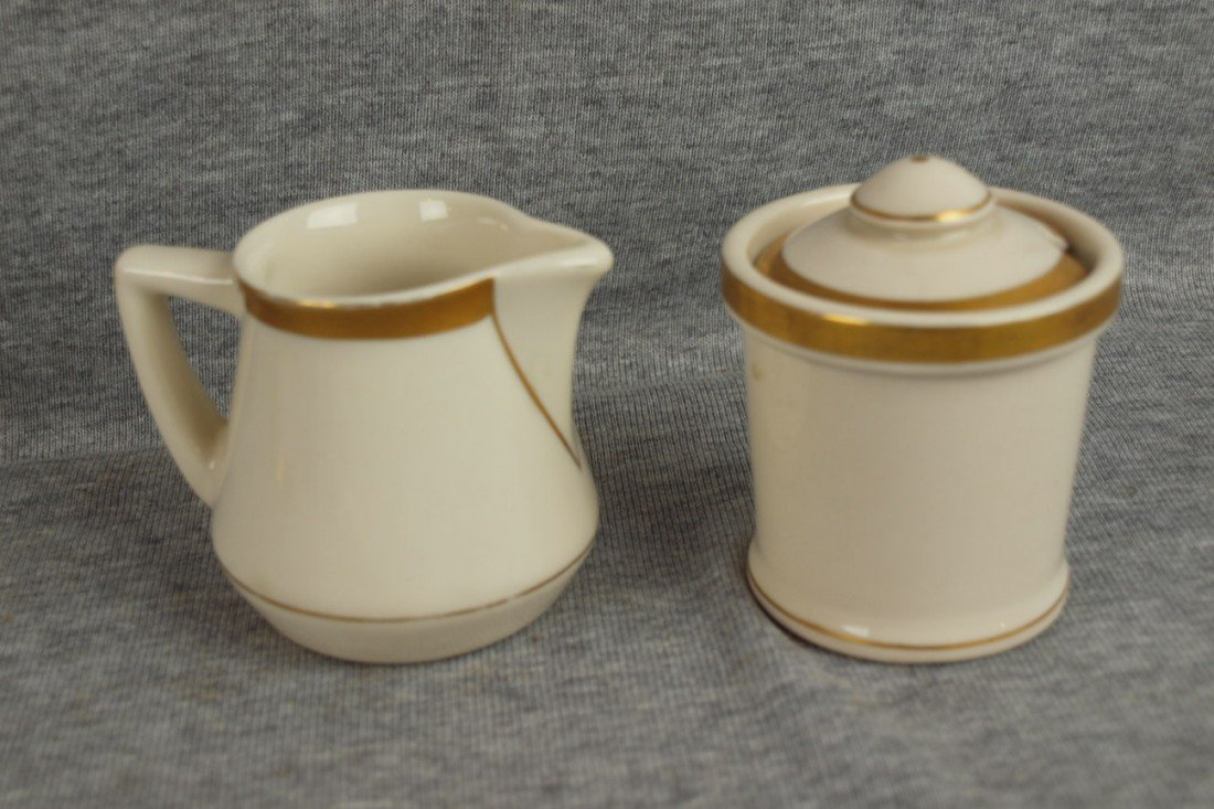 613: C&ORR railroad china George Washington creamer and