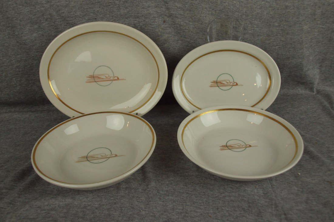 637: UP Streamliner railroad china lot of 4 pieces - 9