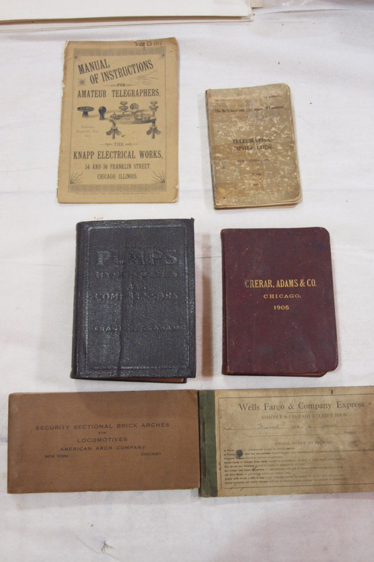 849: Lot of 6 railroad books and manuals