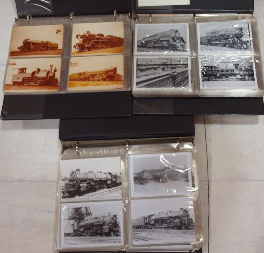 1021: 3 - 3 ring binders of trains and railroad photos