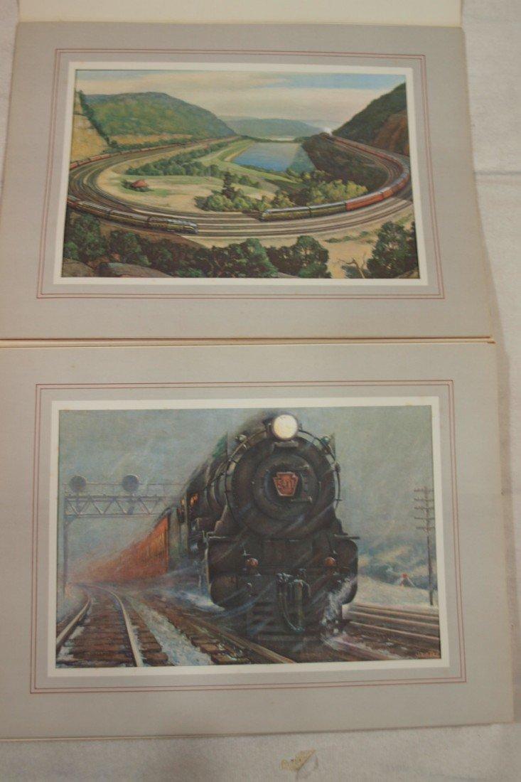 "1034: Lot of 8 PRR prints ""A Portfolio of Trains"""