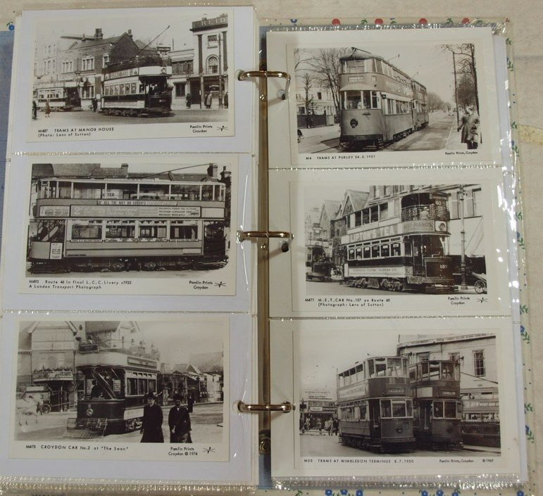 1044: Postcard album with 300+/- railroad and train pos