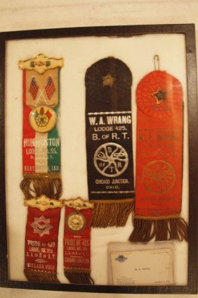 Lot Of 5 Railroad Brotherhood Ribbons - Huntington,