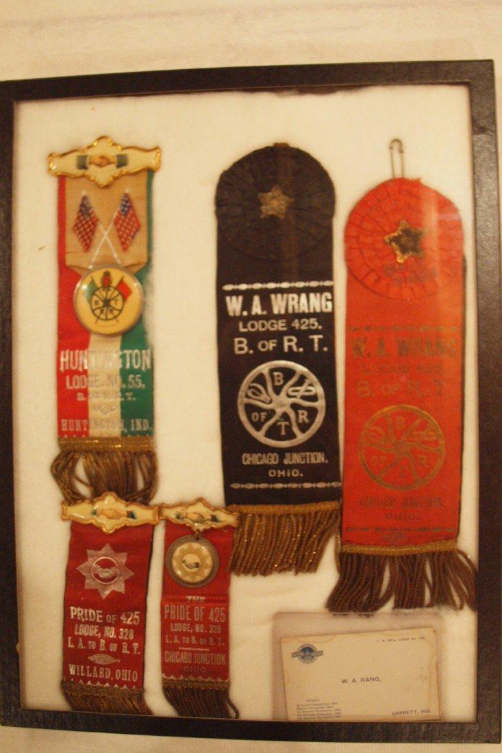 1:  Lot of 5 railroad Brotherhood ribbons - Huntington,