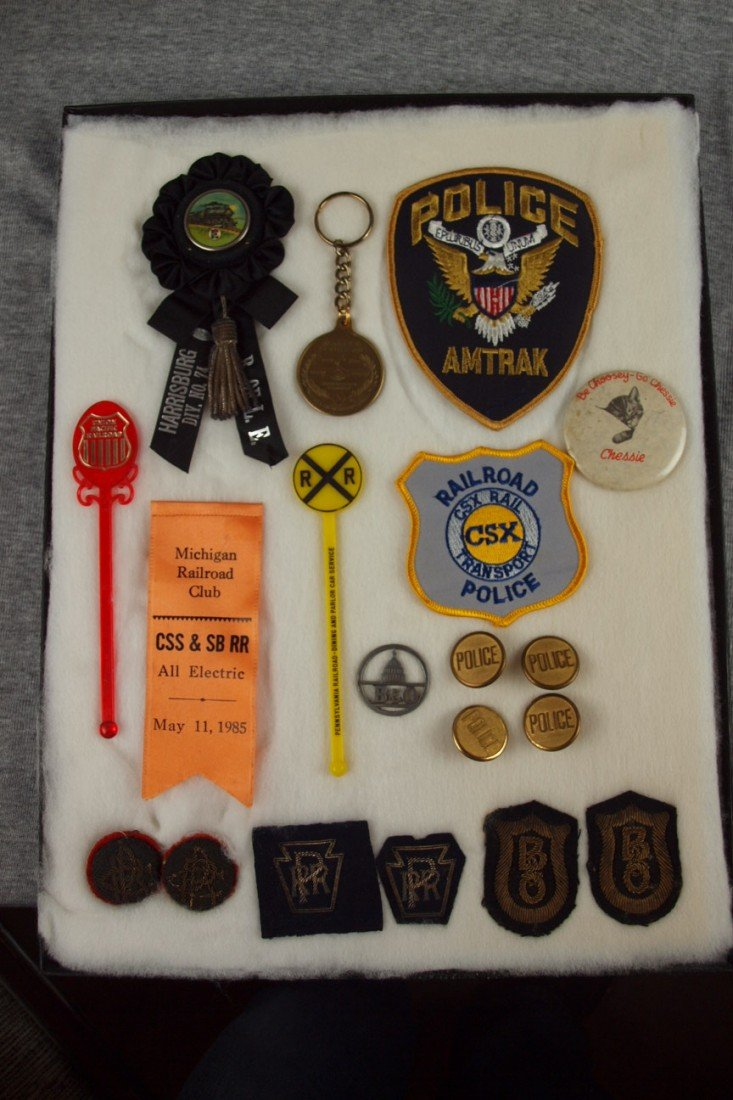 4:  Railroad lot of patches, Brotherhood ribbon, drink
