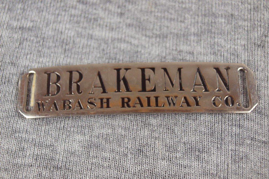 "9:  Wabash Railway Co railroad hat badge""Brakeman"""