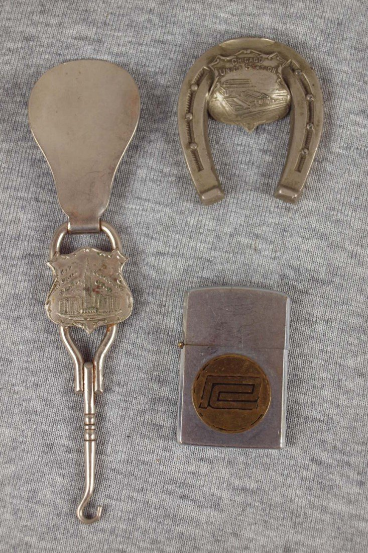 15:  Railroad lot of 3 items - New Union Station Clevel