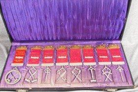 "Set Of 8 Brotherhood Lodge Ribbons, ""Wayne Divisio"
