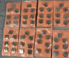20: Lot of 8 sets of 7 B&O railroad Porter and Waiter I