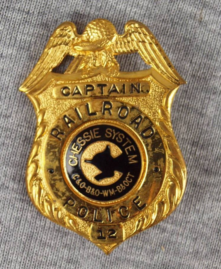 30: Chessie System Railroad Police Captain badge