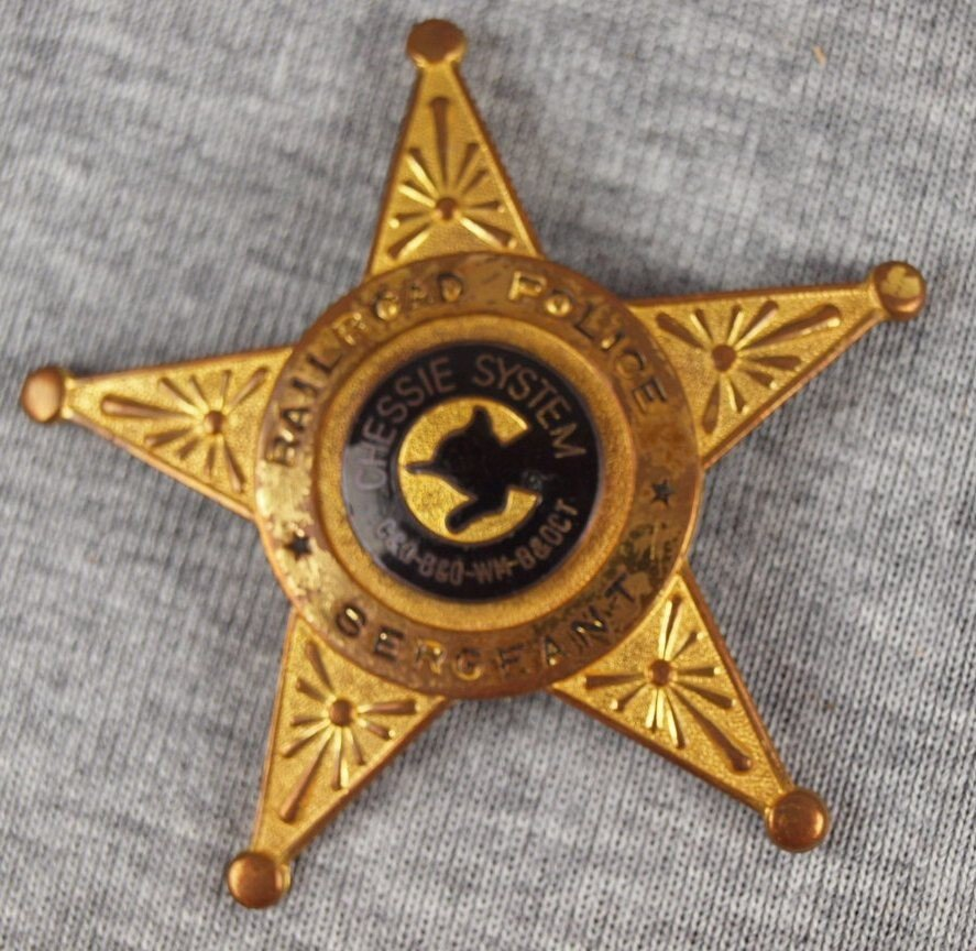 33: Chessie System Railroad Police Sergeant badge