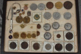 Railroad Lot Of Brotherhood Pins And Railroad Token