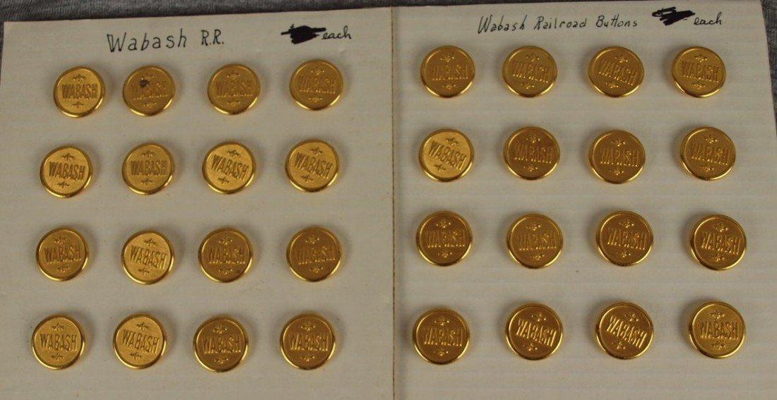 38: Lot of 32 Wabash railroad uniform buttons