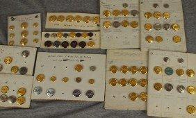 Lot Of 325 Assorted Railroad Uniform Buttons