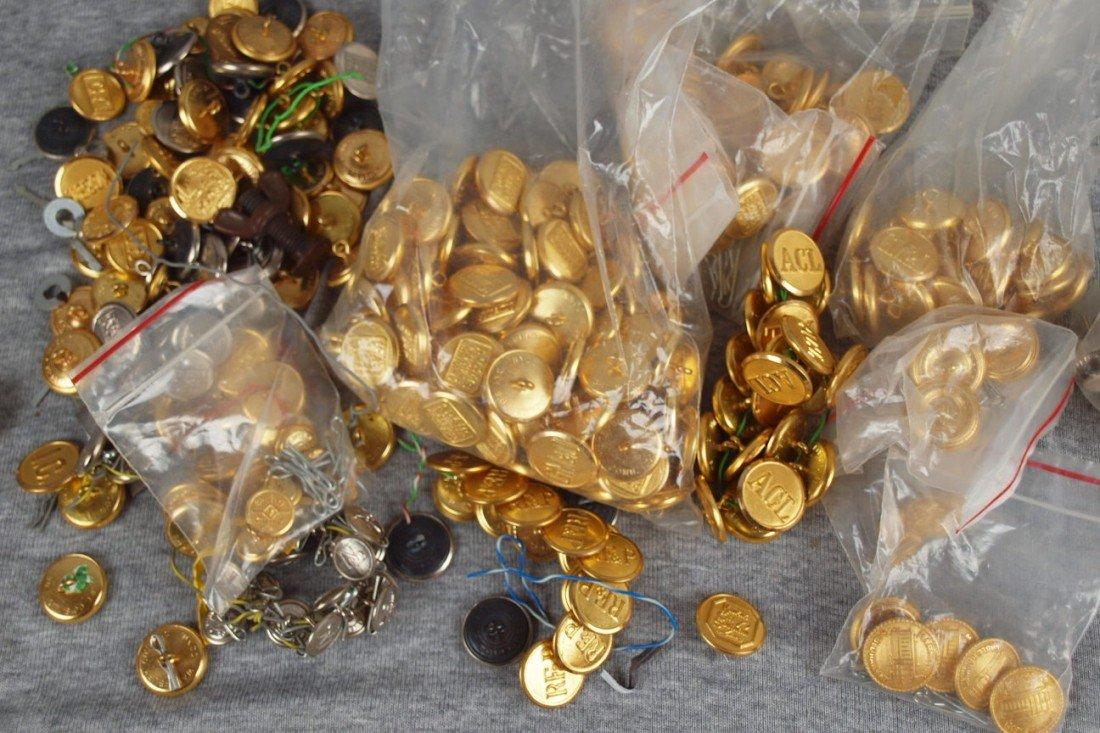 44: Large lot of railroad uniform buttons