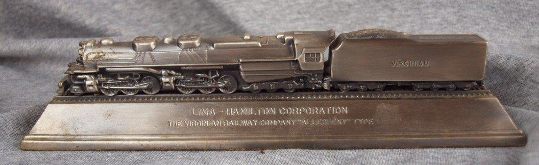 67:  Lima-Hamilton Corp., The Virginian Railway pewter