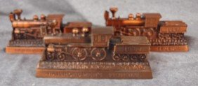3 Railroadman's Federal Advertising Train Banks