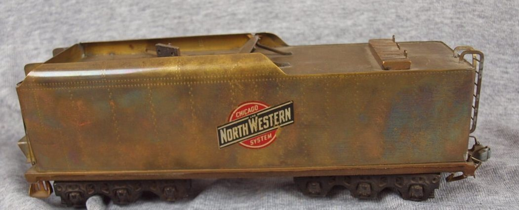 "101:  Northwestern brass train car, 10""l"